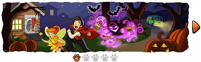 imagenes del nuevo logo de google por Halloween