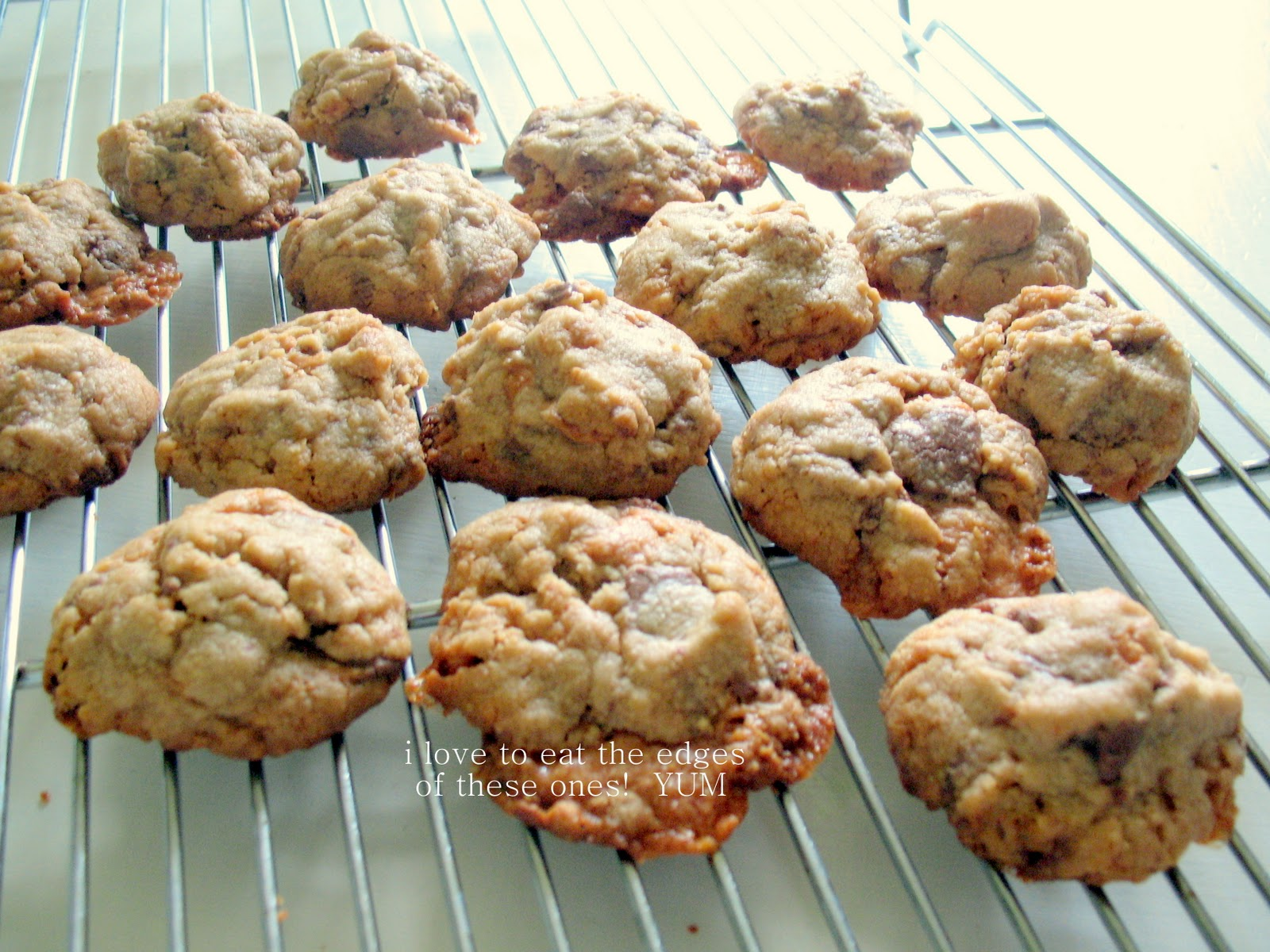 The Pink Peony of Le Jardin: butterfinger cookies