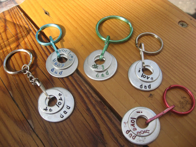 A Father's Day Keychain Kid's Project  by Girl in Air