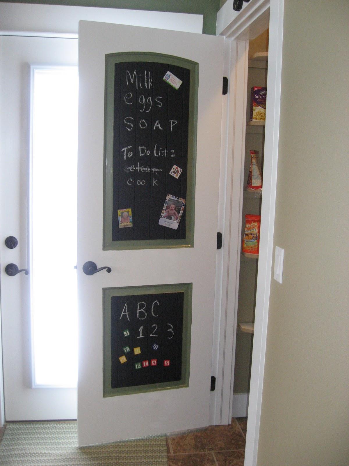 Girl In Air Blog Chalkboard Magnetic Pantry Door