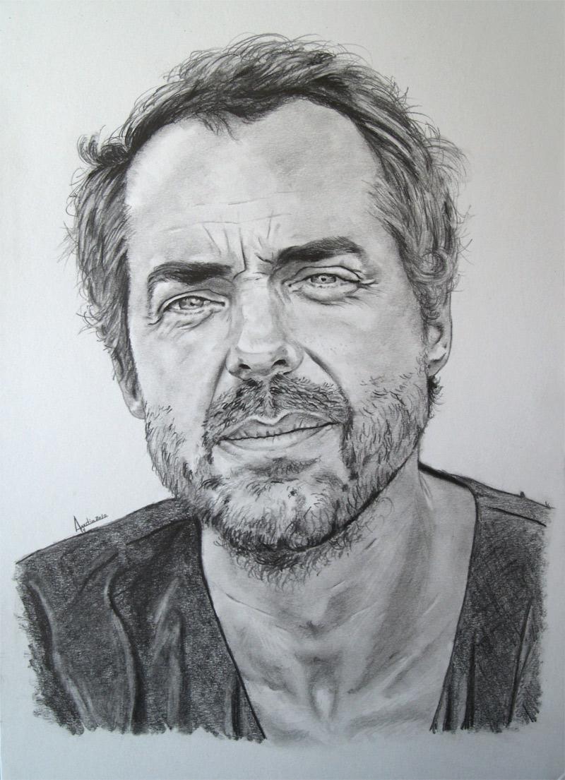 Bronxred Tumblr Com The Man In Black Pencil Drawing Via