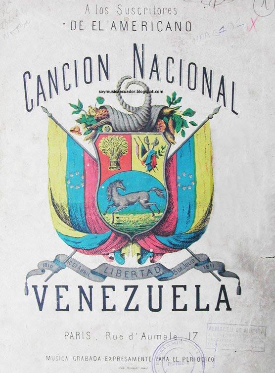 MEMORIA MUSICAL DEL ECUADOR: El Himno Nacional de Venezuela