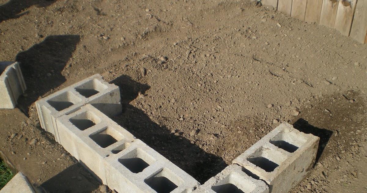 Cinder Block Water Connection Built Beds - platform beds frames