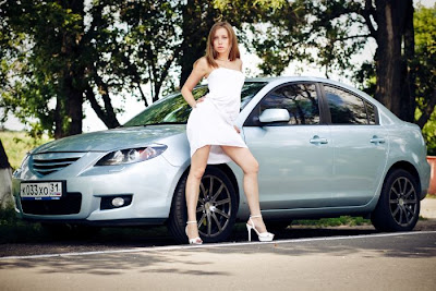 Cute Russian Girls and their Cars