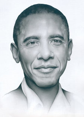 Beautiful Pencil Drawing Art | Obama drawing