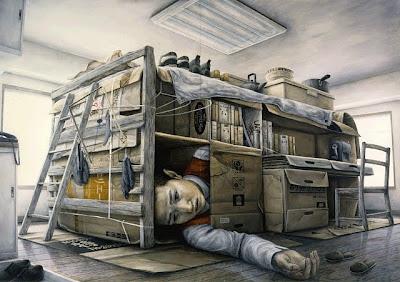Surrealistic paintings by Tetsuya Ishida