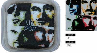 Bento Lunches Decorated as Album Covers
