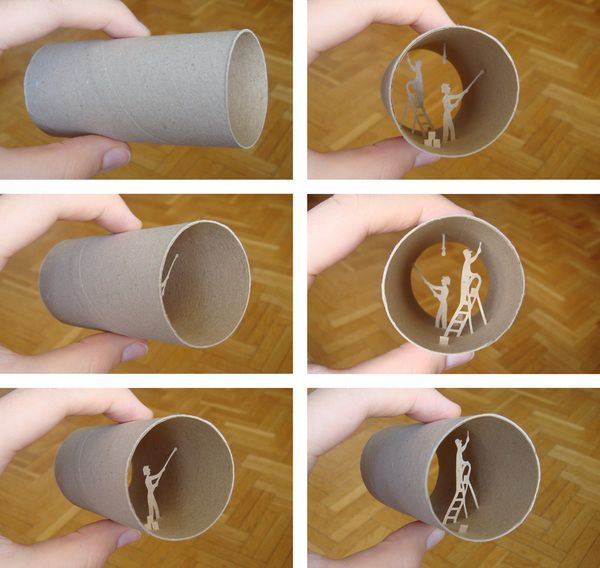 Toilet paper roll art likepage for Painting toilet paper rolls