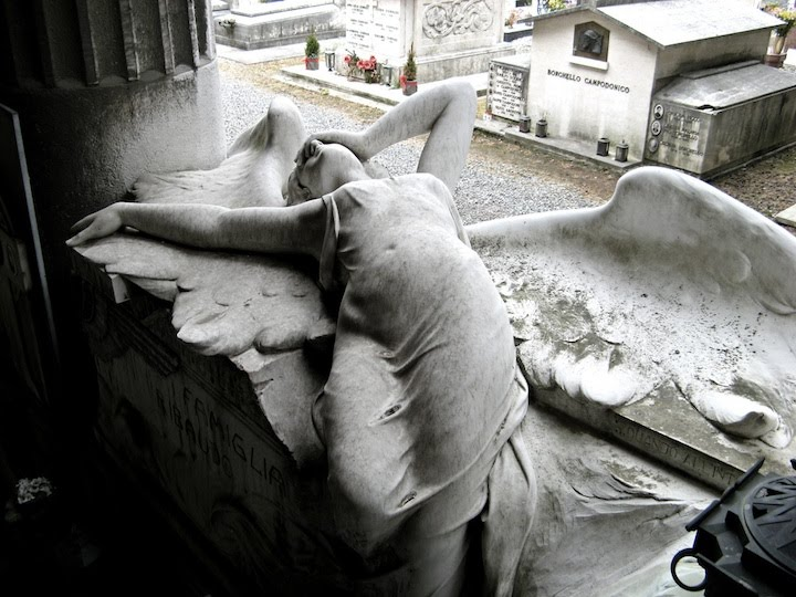 Scary but artful cemetery sculpture seen on www coolpicturegallery us