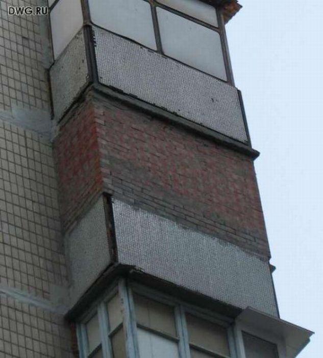 Суровый балкон в волгограде.