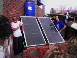 Hybrid rooftop animal shelter and solar hot water system