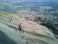 Climbing Madhugiri