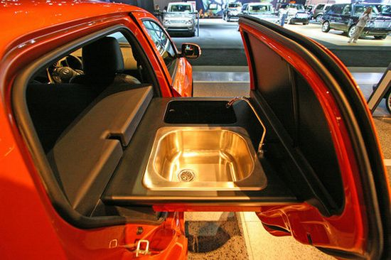 Charmant Call It A Kitchen Car Or Kitchen In The Car, The U201cScion Kogi XDu201d Is A  Mobile Kitchen From Scion And MV Designs That Lets You Have Food Cooked By  Your Own ...