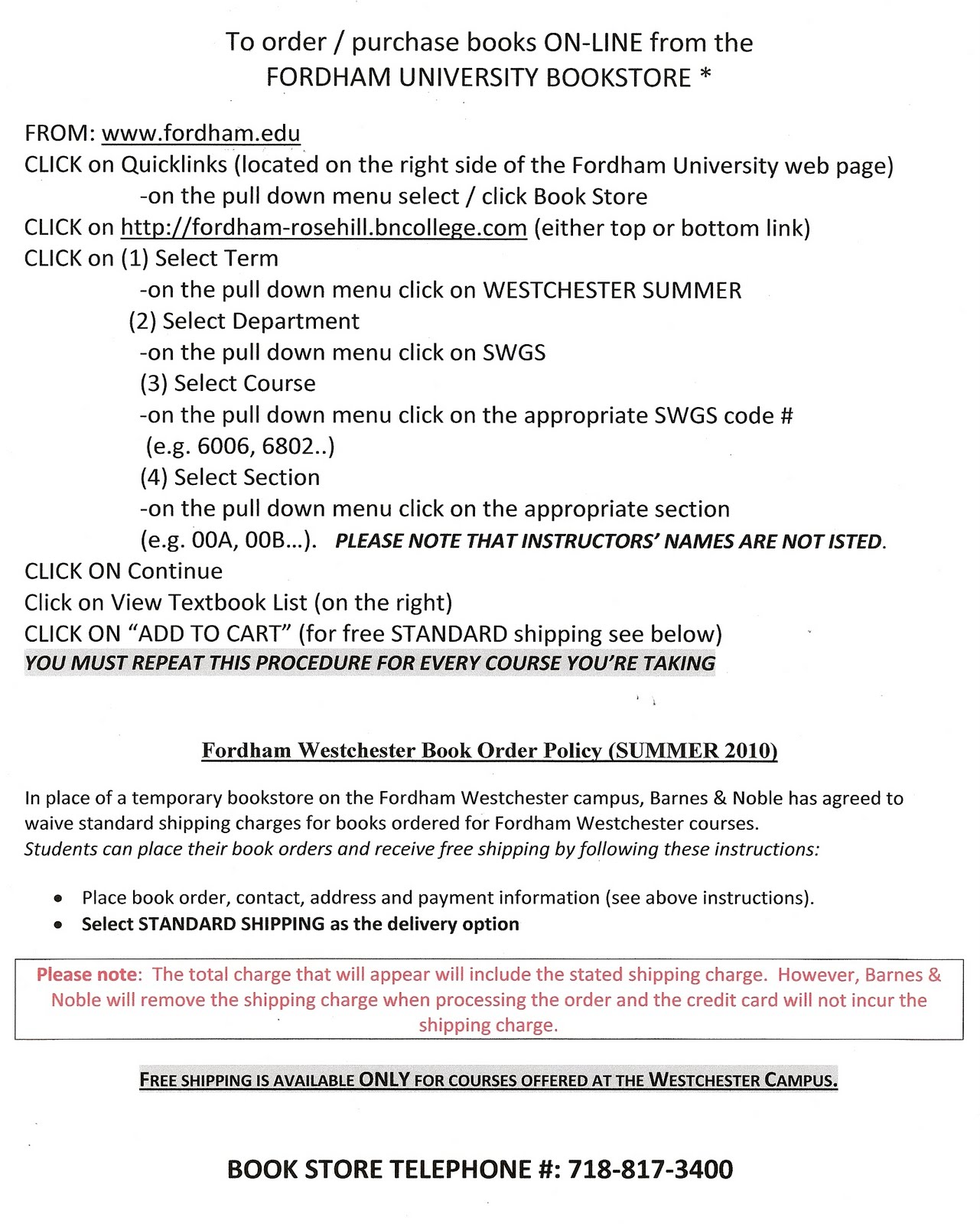 gss news and views  online order instructions for the fordham university bookstore please click on the following image for step by step details on how to purchase you summer