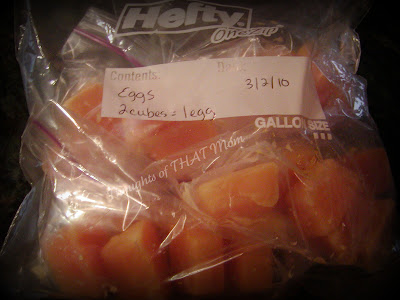 Frozen Eggs Labeled in a Baggie Thoughts of THAT Mom