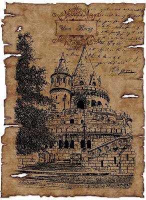 рисунок из фотографии, старая бумага