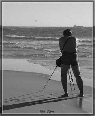 фотограф на пляже