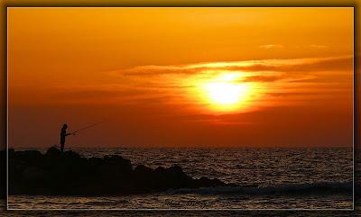 рыбалка на закате