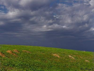 тучи над холмом