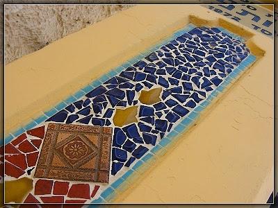 школьные ворота с мозаикой