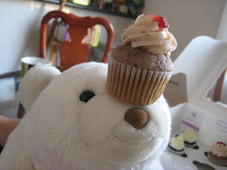 Gund snuffles bear with cupcake on nose