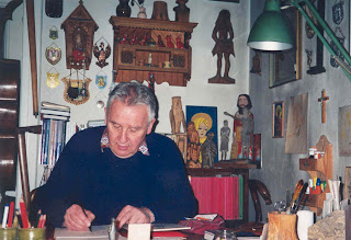 Gorecki in his studio, April 1998
