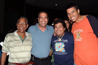 Amigos: Sammy Ayala, Edwin Torres, Giovanni Hidalgo y Marcos Malory