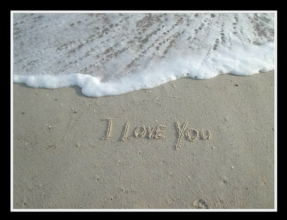 love you in sand. Us - For a sad love!