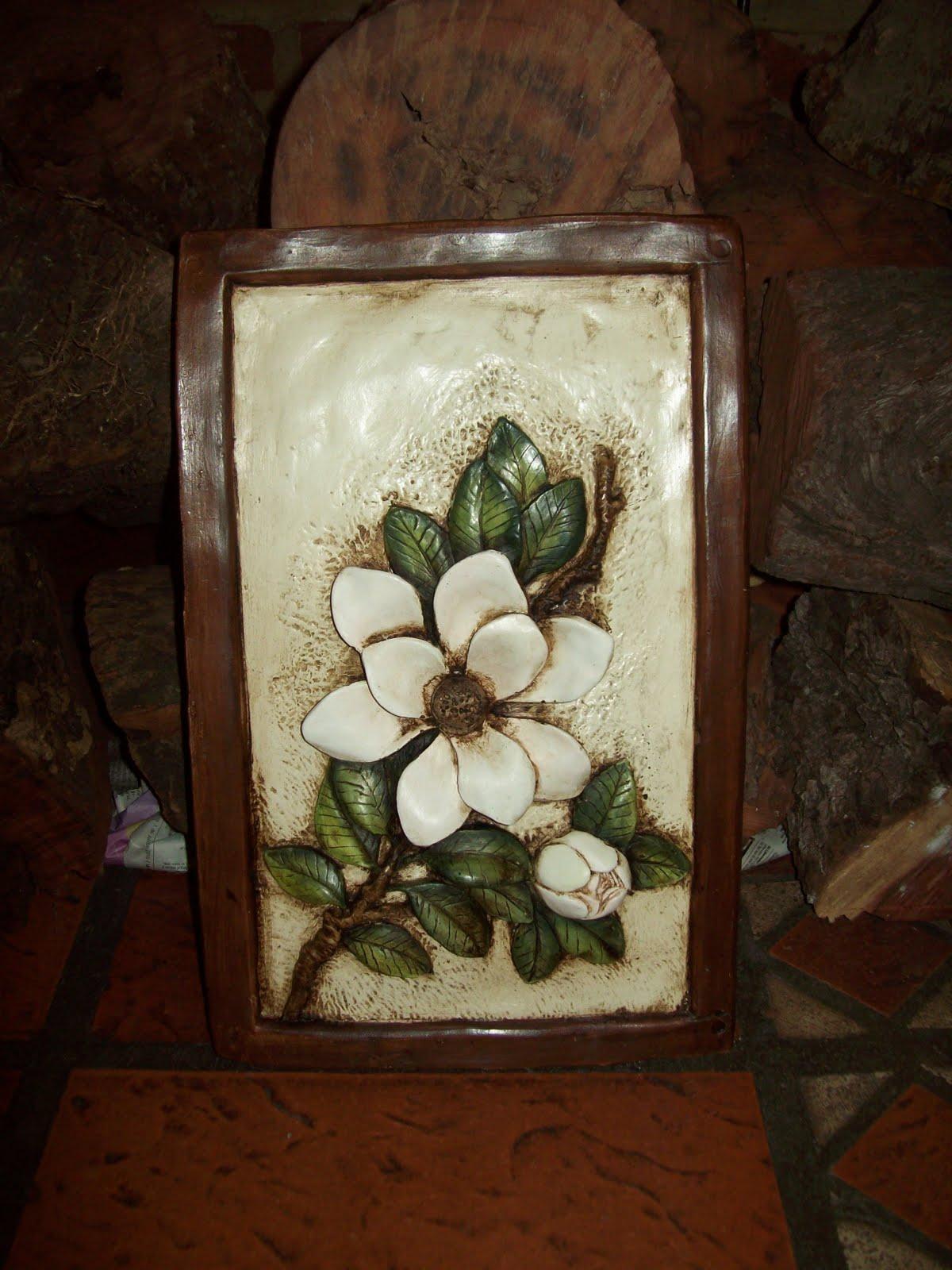 La posada de ema cuadros de flores en relieve - Cuadros en relieve modernos ...