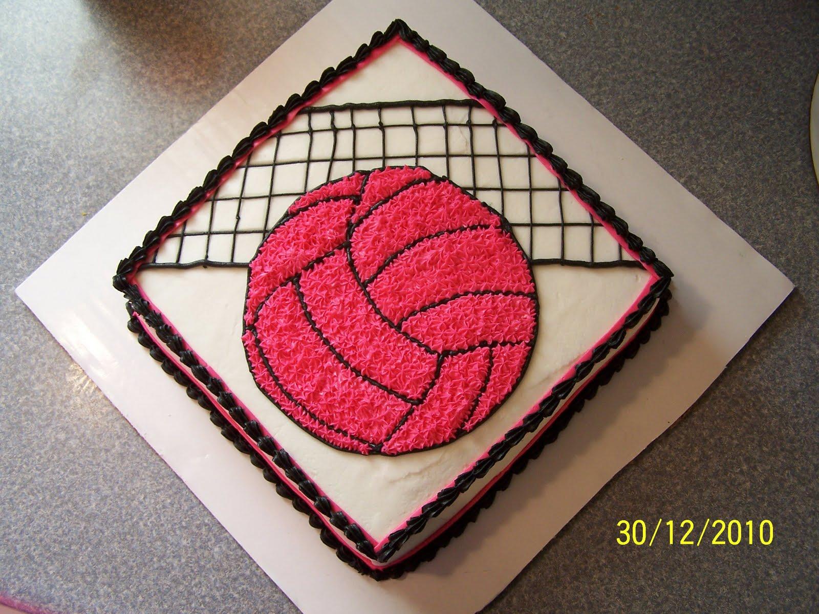 Edees Custom Cakes Volleyball Birthday