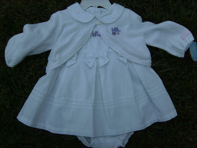 NWT 3 Piece White Baby Girl Skirt Set or Outfit 3 6 Months