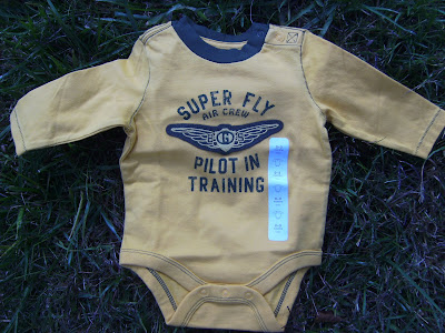 NWT Yellow with Green Baby Gap Long Sleeve Onesie for Baby Boy 3 6 Months