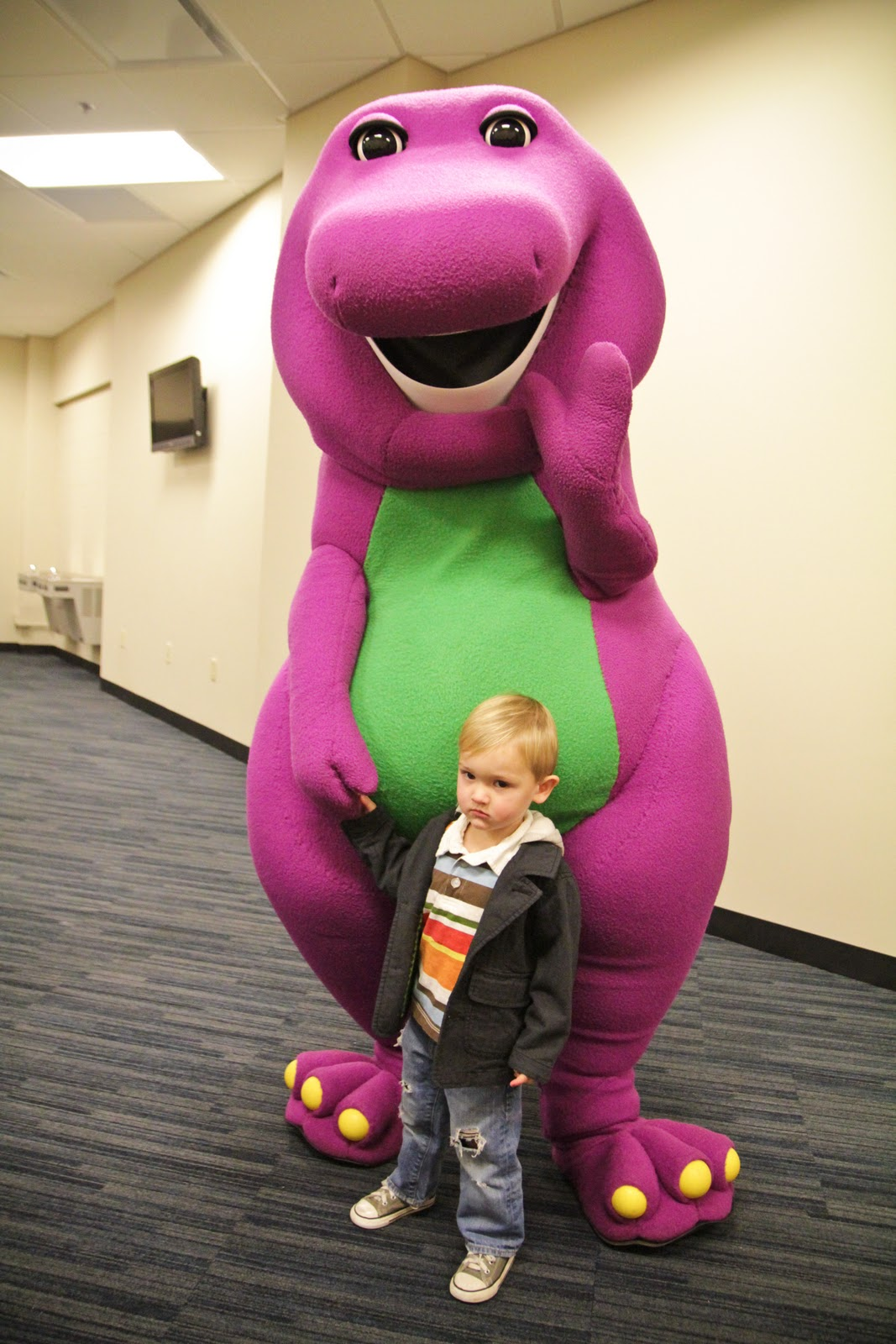 The Rollins Ruckus A Night Out With A Big Purple Dinosaur