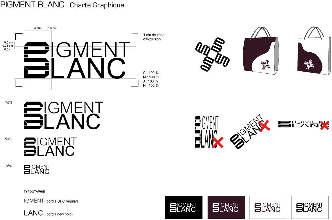 sac bricabrac logo marque de v tements pigment blanc. Black Bedroom Furniture Sets. Home Design Ideas