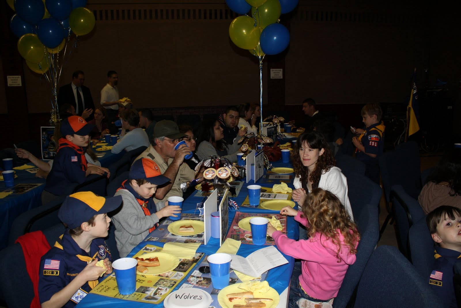 pack had its annual blue and gold banquet it was a very enjoyable