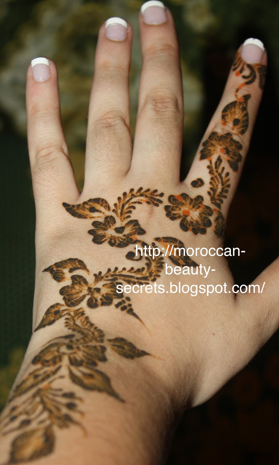 Khaleeji Henna Mehndi Design : Moroccan beauty secrets henna khaleeji