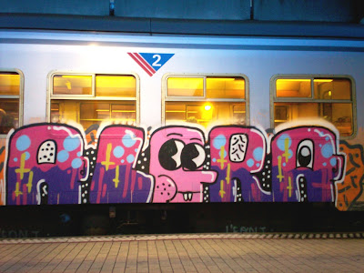Rabbit man graffiti