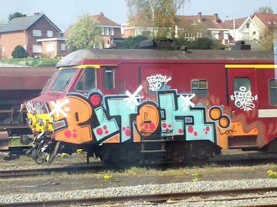 Pitok is train graffiti writer crew
