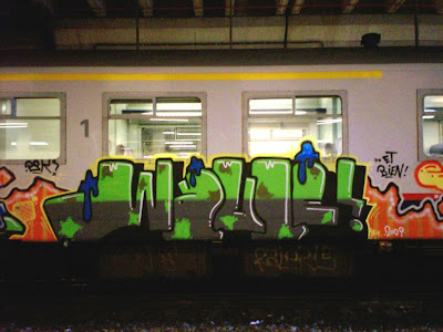 graffiti art on trains