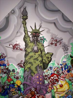 Expo graffiti Rush, Ebola, Aien, Solo, Silik, Dextro, Dums et Donna