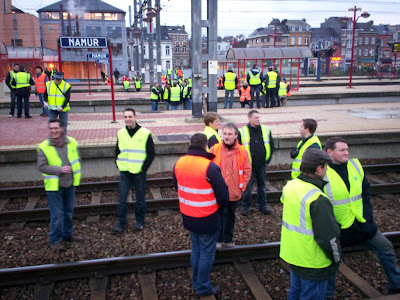 Belgian rail strike: art or vandalism?