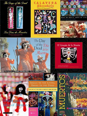 mash-up of Day of the Dead resources at Columbia College Chicago Library