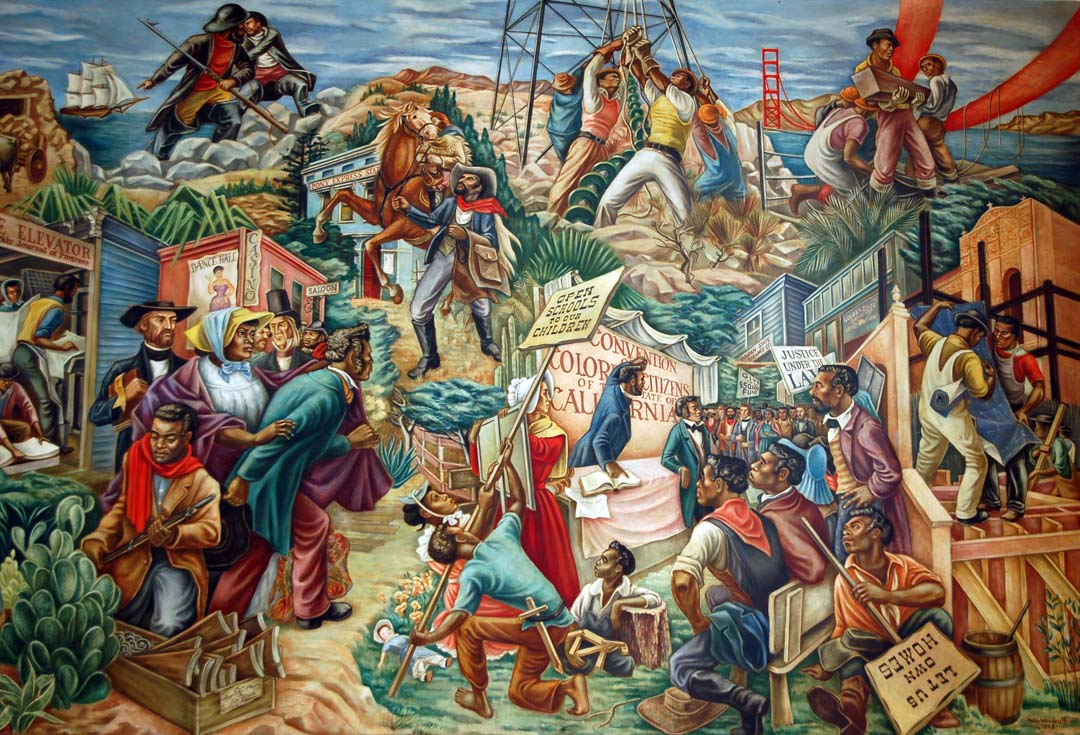 Florida fine art blog hale woodruff happy birthday for Black history mural