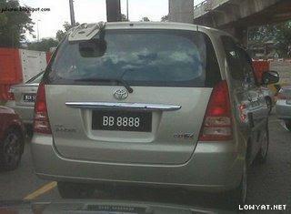 BB+8888 Koleksi Nombor Plat Kereta Tercantik Dan Termahal Di Malaysia