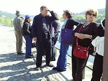 À espera do barco para o Castelo de Almourol