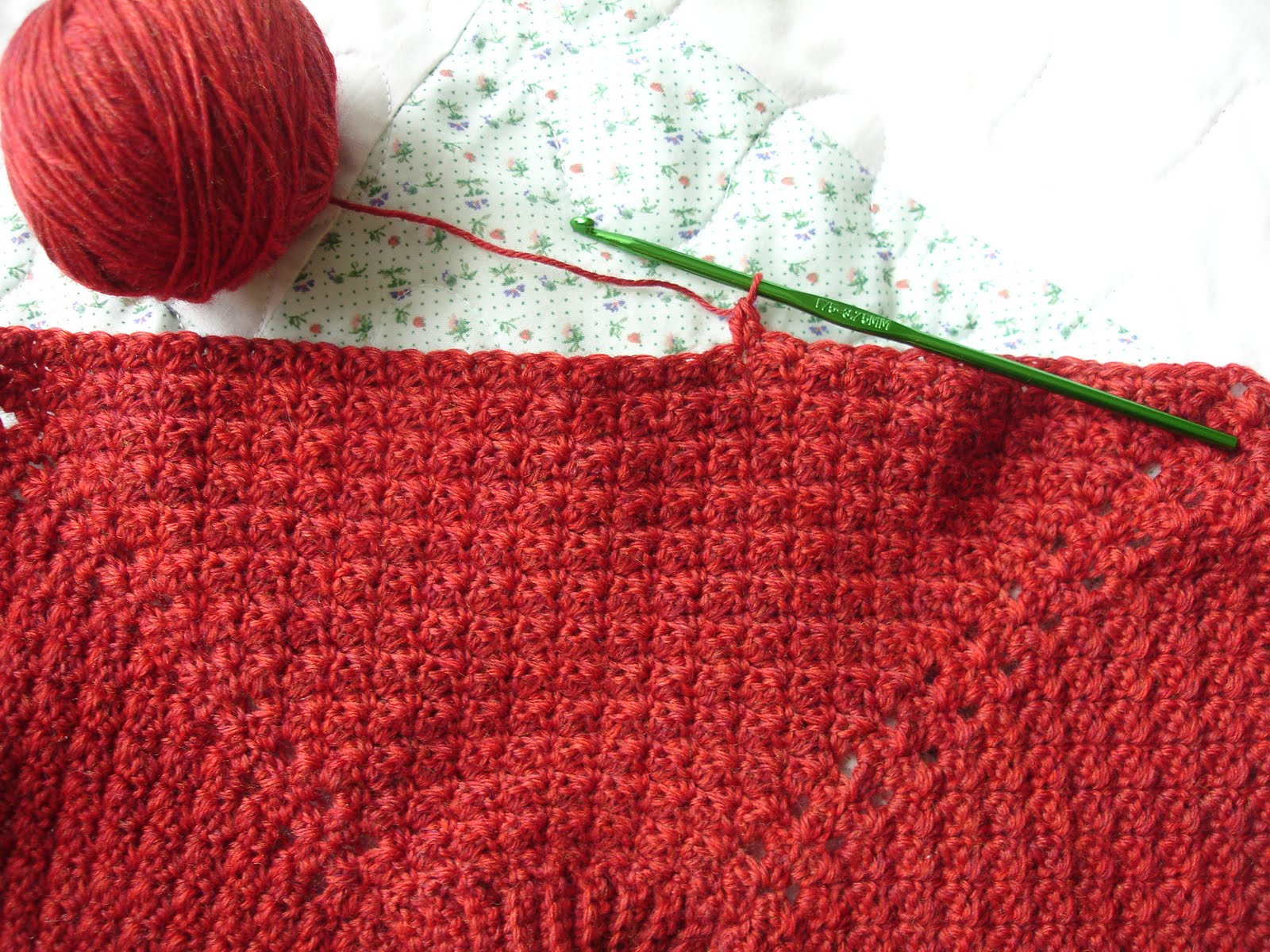 Hands Crocheting Muscle memory makes crocheting
