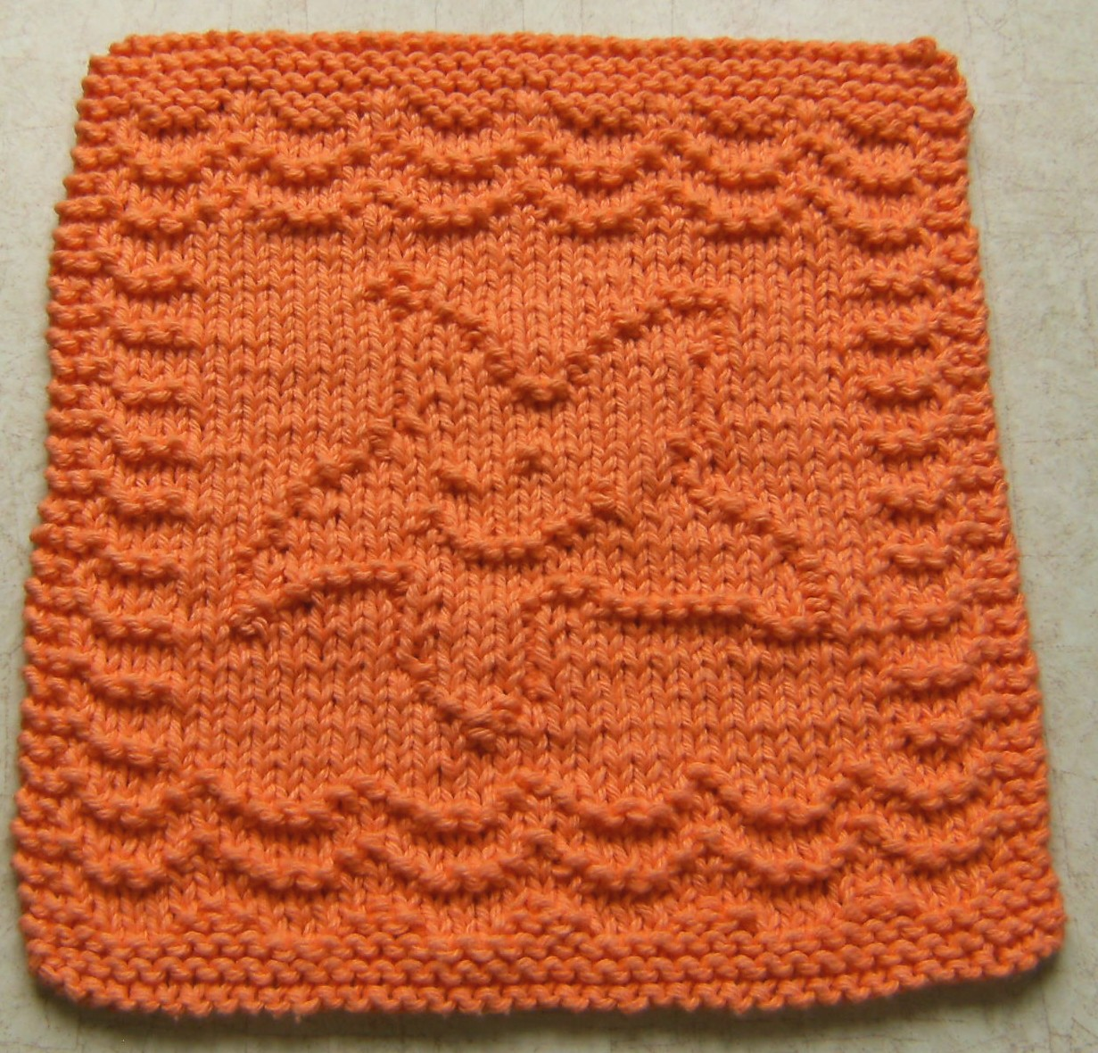 Knitted Dishcloth Pattern With Star : Down Cloverlaine: Baby Starfish Cloth