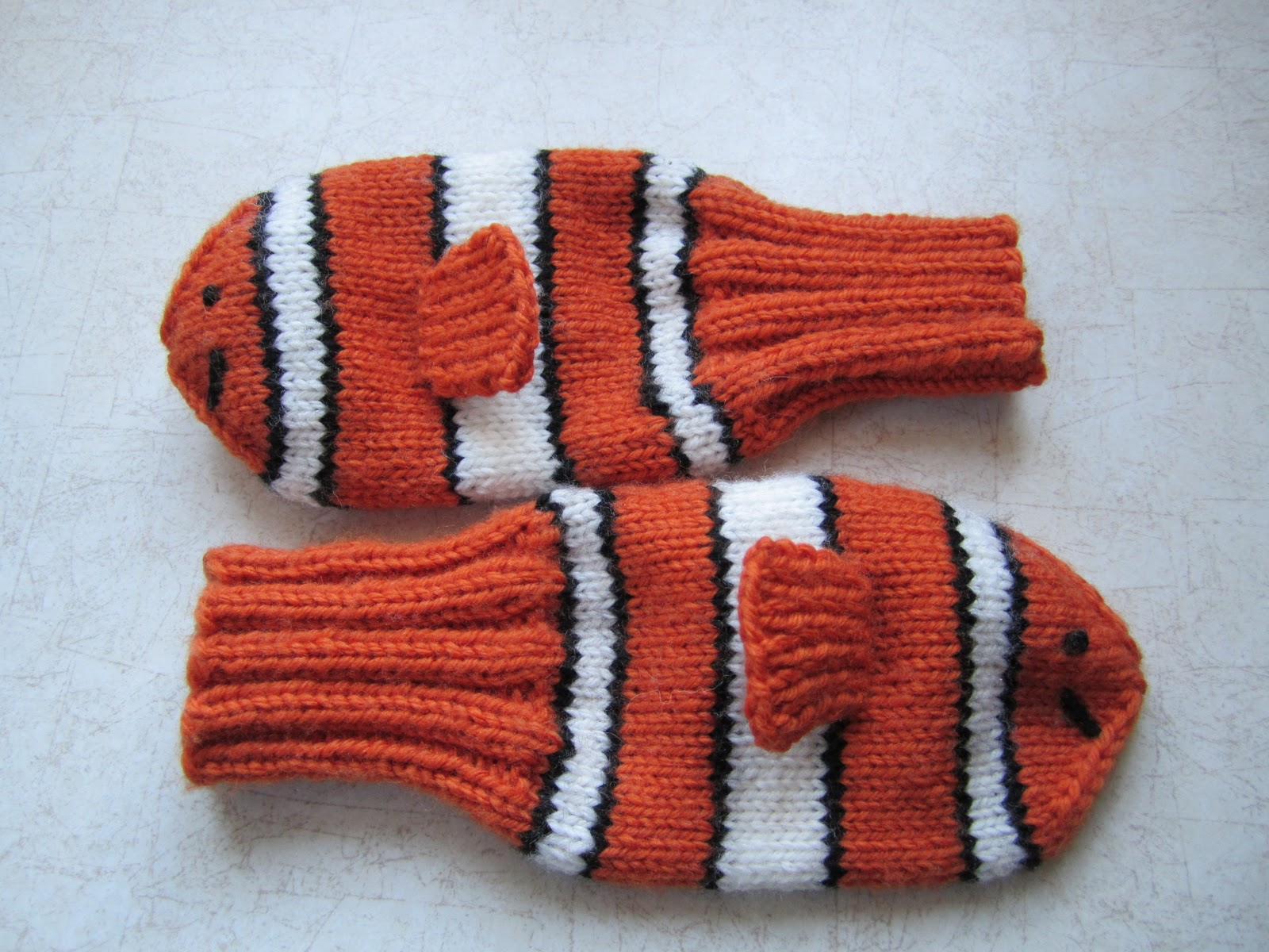 Knitting Pattern For Fish Mittens : Down Cloverlaine: Happy Birthday Marty!