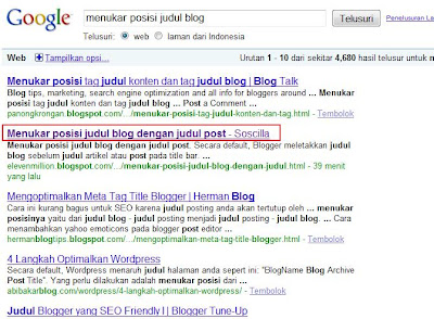 cara menukar posisi judul blog dengan judul post