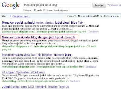 cara menukar posisi judul blog dengan judul post